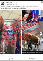 Minuman Energi Mengandung Sperma Banteng