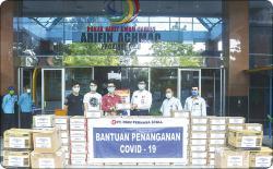 PT Riau Perkasa Steel Berikan Bantuan ke RSUD Arifin Achmad