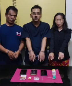 3 Pelaku Narkoba Disergap di Jalan Lintas Pekanbaru-Bangkinang