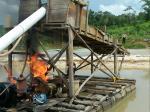 Pekerja Kocar-kacir, Polsek Hulu Kuantan Musnahkan 4 Kapal PETI