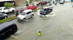 Diguyur Hujan Lagi, Banjir di Tampan Semakin Parah
