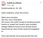 Ditahan KPK, Akun Resmi Wali Kota Dumai Unggah Permohonan Maaf