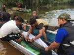 Ikan Pesut 2 Meter Lebih di Sungai Segati Dievakuasi ke Sungai Kampar