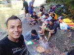 Pengunjung Sungai Rokan dan Air Terjun Membeludak