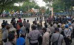 Massa Aksi Tolak Omnibus Law Hari ke-3 Tiba di DPRD Riau
