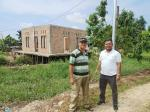 Tiang Listrik Pindah, Pembangunan Mushalla Dilanjutkan di Sei Duku