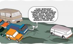 Jalan Raya Pematang Reba-Pekan Heran Semakin Rusak