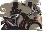 Dikejar, Penjambret Mengacungkan Pisau