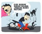 Motor Masuk Parit