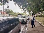 Dishub Tertibkan  Parkir Liar di Jalan  Diponegoro