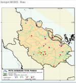 69 Hotspot Terpantau di Riau Pagi Ini