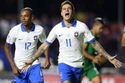 Coutinho Dua Gol, Brazil Permak Bolivia