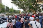 Sambut Dua Jenderal, Mahasiswa Demo Tuntut Wabup Bengkalis Ditahan