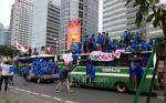 Demo Mahasiswa Bergerak, Jalan Sudirman Macet Total