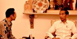 AHY Mengaku Bahagia Usai Bicara Empat Mata dengan Presiden Jokowi