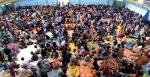 Ribuan Warga Kampar Ingin Melipat Surat Suara, Sport Center Penuh Sesak