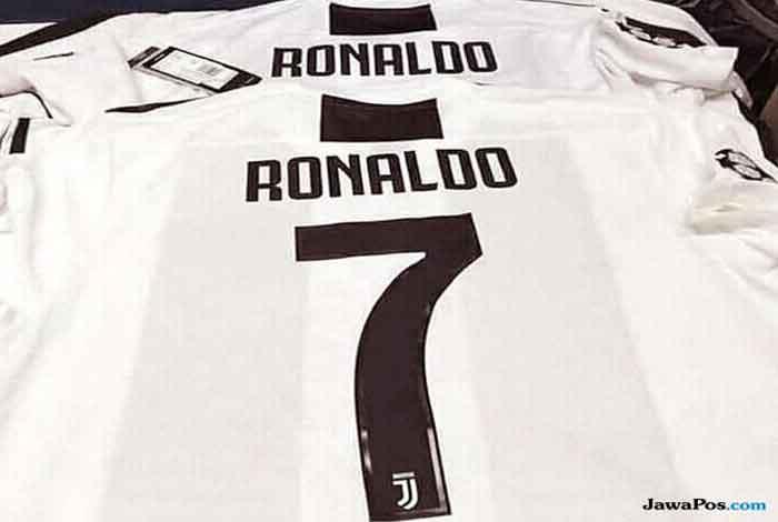 Wow, Sudah Beredar di Pasaran Jersey Ronaldo Nomor 7 di Juventus