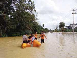 Beberapa Kecamatan di Inhu Terendam Banjir