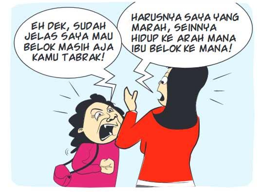 Diserempet Emak-Emak