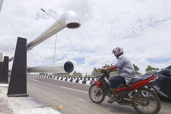Besi Pagar Jembatan Siak IV Hilang