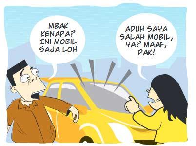 Ngantuk, Salah Mobil