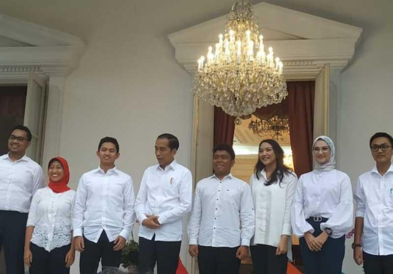 Jokowi Umumkan Staf Khusus Presiden dari Kalangan Milenial