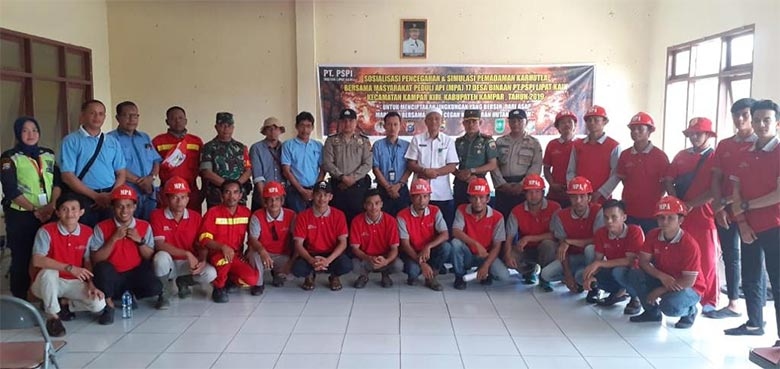 PT PSPI Bersama Upika Sosialisasi Pencegahan dan Simulasi Pemadaman Kebakaran
