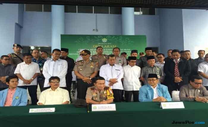 Gelar Deklarasi, Universitas Riau Tegaskan Menolak Paham Radikalisme