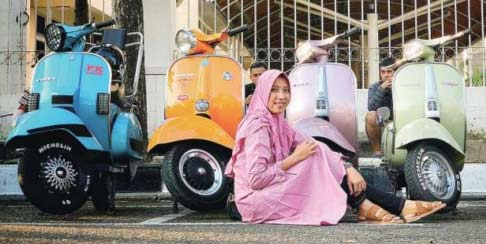 The Pink Vespa Is Mine