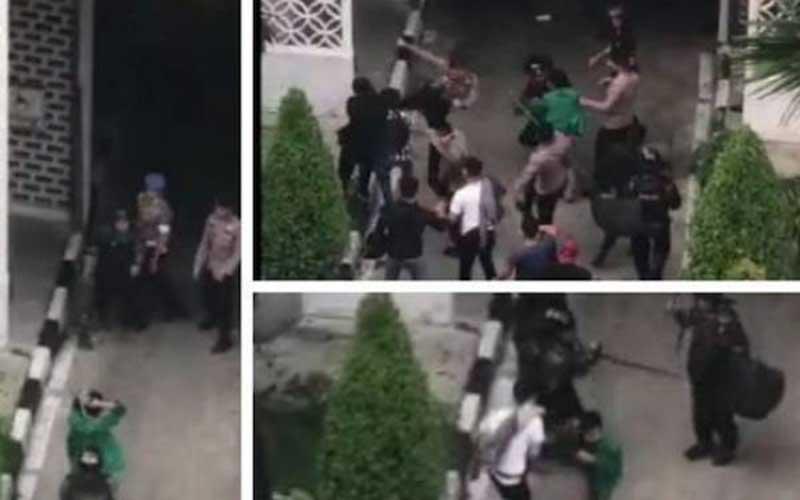 Oknum Polisi Pemukul Mahasiswa Demo di Medan Sudah Diamankan