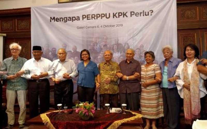 Sejumlah Tokoh Kompak Dorong Presiden Jokowi Terbitkan Perppu KPK