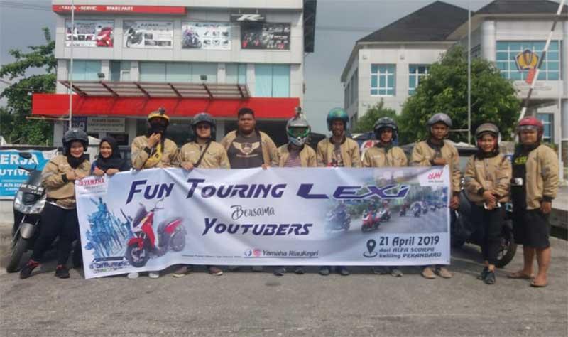 Sambut Kartini, PT Alfa Scorpii Pekanbaru Taja Touring Bersama Konsumen